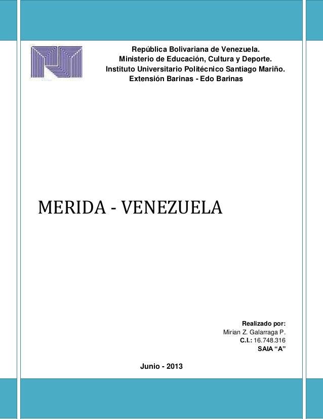 República Bolivariana de Venezuela. Ministerio de Educación, Cultura y Deporte. Instituto Universitario Politécnico Santia...