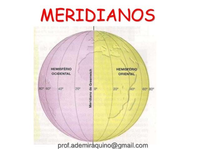 MERIDIANOS prof.ademiraquino@gmail.com