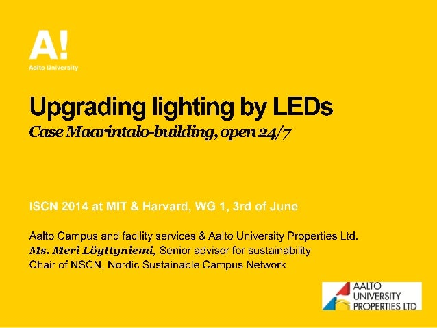 Meri Löyttyniemi: Upgrading lighting by LEDs