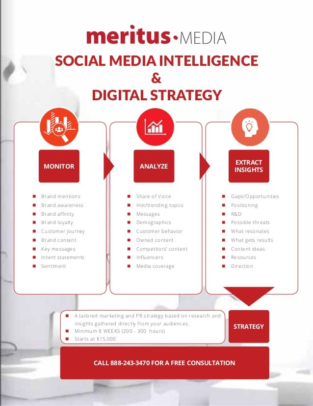 SOCIAL MEDIA INTELLIGENCE & DIGITAL STRATEGY MONITOR ANALYZE EXTRACT INSIGHTS STRATEGY CALL 888-243-3470 FOR A FREE CONSUL...