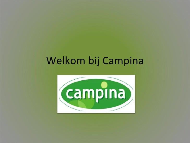 Welkom bij Campina