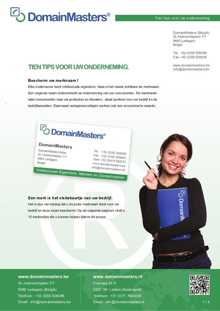 Tien tips voor uw onderneming                                                                                             ...