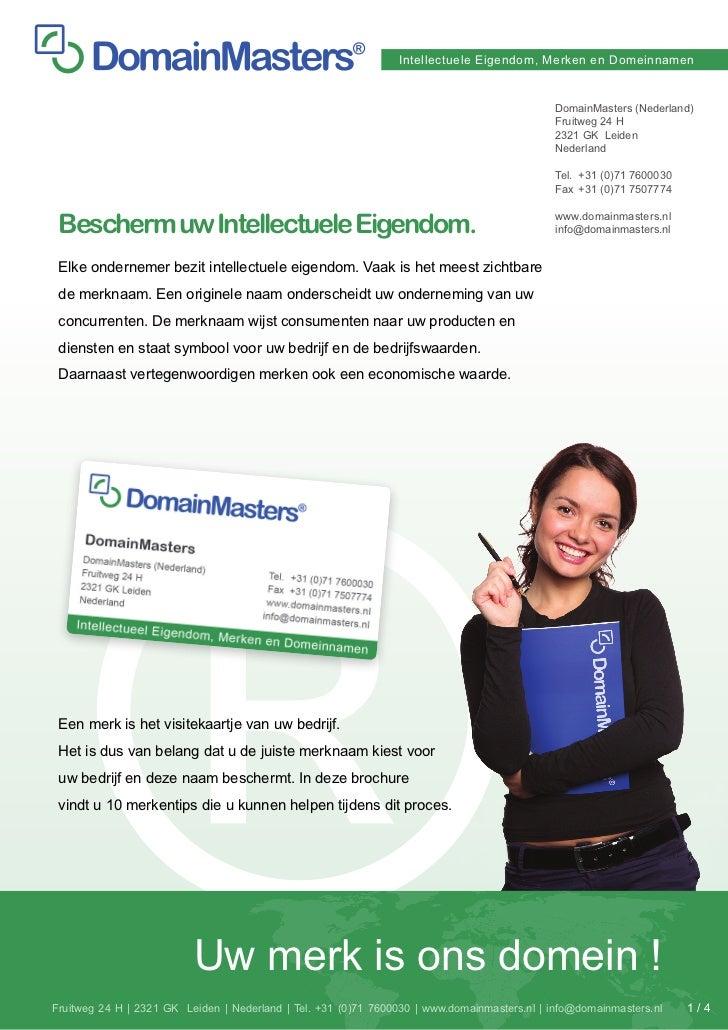 Intellectuele Eigendom, Merken en Domeinnamen                                                                             ...