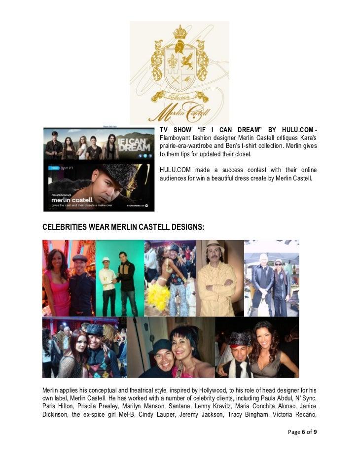 Merlin Castell English Bio Fashion Designer Bio 2011 English