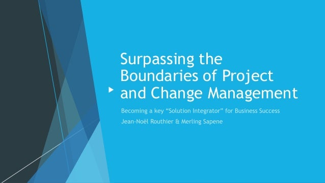 Surpassing the Boundaries of Project and Change Management
