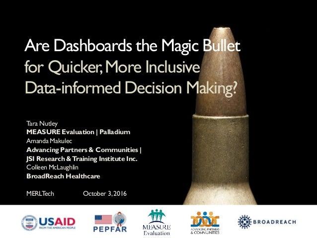 Tara Nutley MEASURE Evaluation | Palladium Amanda Makulec Advancing Partners & Communities | JSI Research &Training Instit...