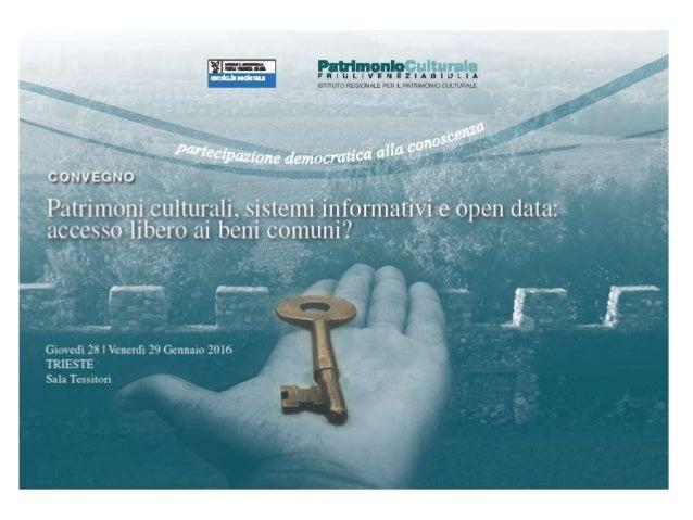 Merluzzi et al., Presentazione del newSIRPaC. La catalogazione partecipata Slide 2