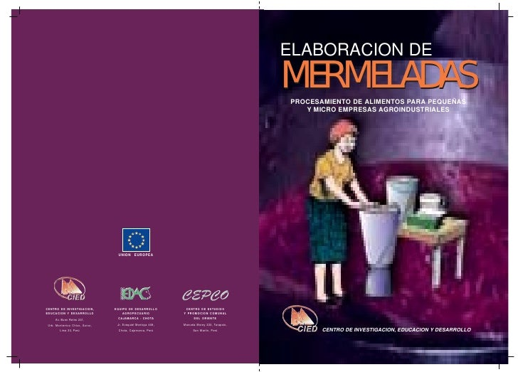 ELABORACION DE                                                                                             MERMELADAS     ...
