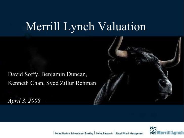 Merrill Lynch S Valuation