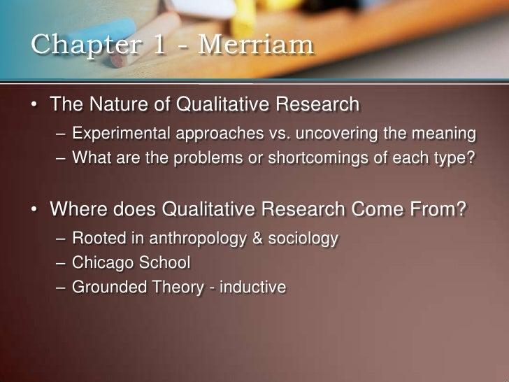 <ul><li>Characteristics of Qualitative Research