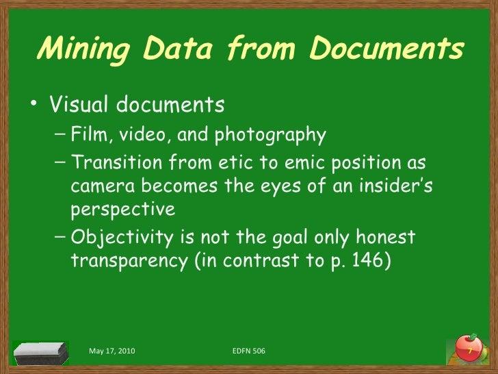 Mining Data from Documents <ul><li>Visual documents </li></ul><ul><ul><li>Film, video, and photography </li></ul></ul><ul>...