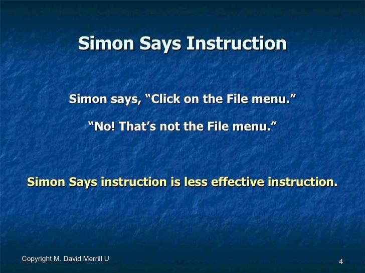 david merrill first principles of instruction