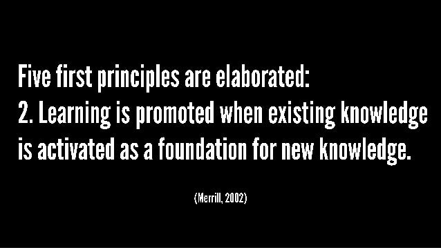 Essentials Of Instructional Design Merrill S First Principles Of Ins