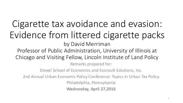 Essay on cigarette taxes