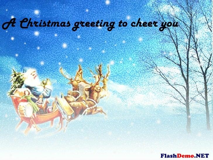 Flash Demo .NET A Christmas greeting to cheer you