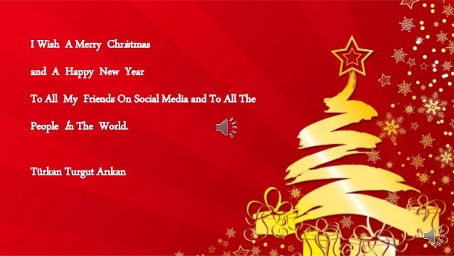 I Wish A Merry Christmas and A Happy New Year To All My Friends On Social Media and To All The People İn The World. Türkan...