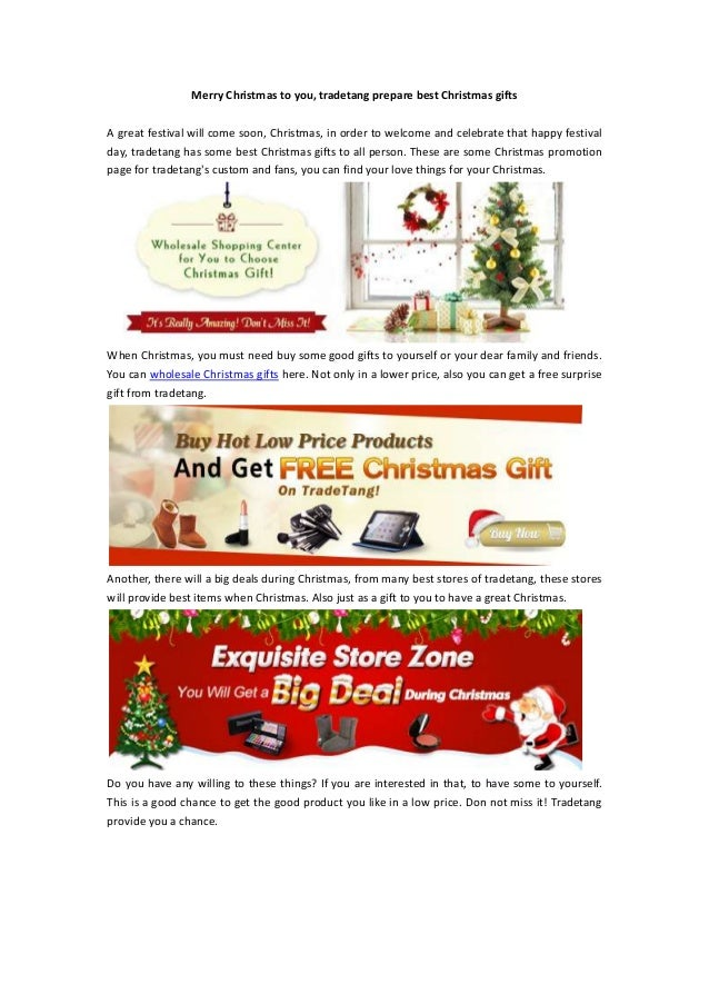 Merry Christmas to you, tradetang prepare best Christmas giftsA great festival will come soon, Christmas, in order to welc...