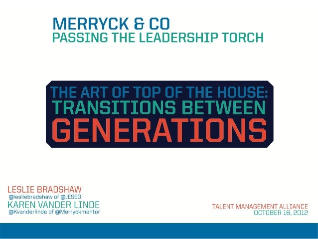 Merryck and Co - Passing the Leadership Torch
