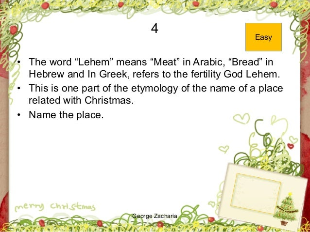 """George Zacharia 4 • The word """"Lehem"""" means """"Meat"""" in Arabic, """"Bread"""" in Hebrew and In Greek, refers to the fertility God L..."""