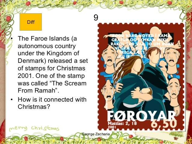 George Zacharia 9 • The Faroe Islands (a autonomous country under the Kingdom of Denmark) released a set of stamps for Chr...