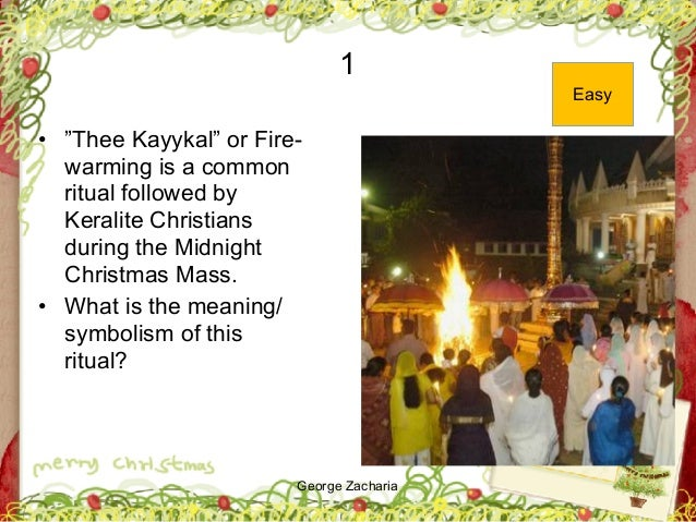 """George Zacharia 1 • """"Thee Kayykal"""" or Fire- warming is a common ritual followed by Keralite Christians during the Midnight..."""