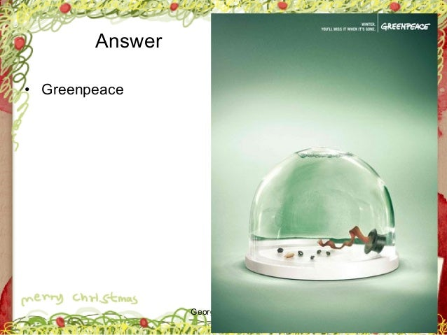 George Zacharia Answer • Greenpeace