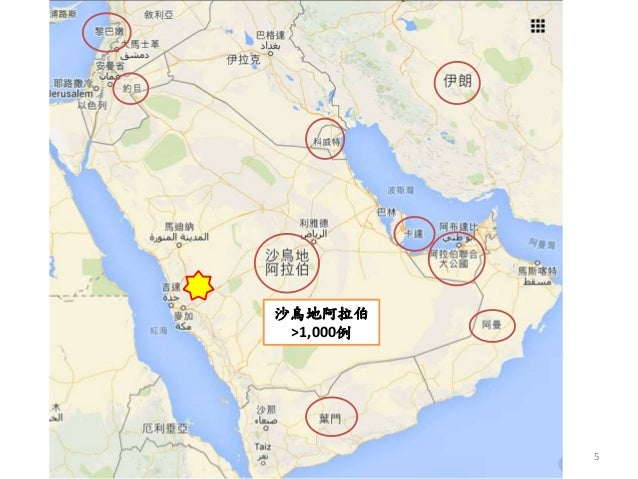 5 沙烏地阿拉伯 >1,000例