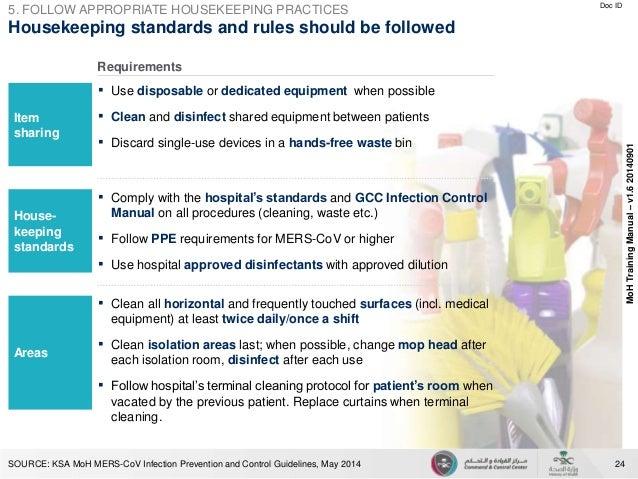 mers cov prevention rh slideshare net issa hospital housekeeping training manual Daily Housekeeping Training List