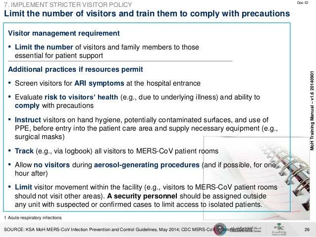 mers cov prevention rh slideshare net CDC Guidline for Pain CDC Travel