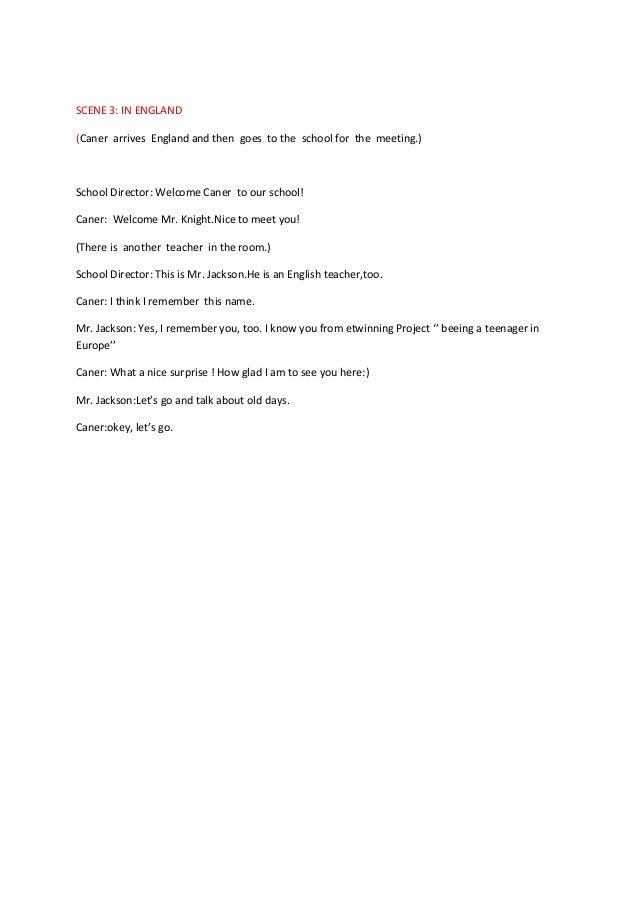 Mersi̇n toros koleji tiyatro senaryosu (i̇ngi̇li̇zce versiyonu)