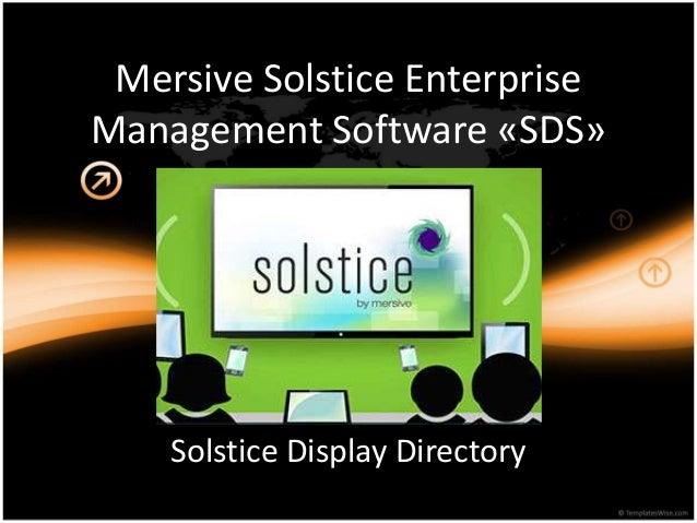 Mersive Solstice Enterprise Management Software «SDS» Solstice Display Directory