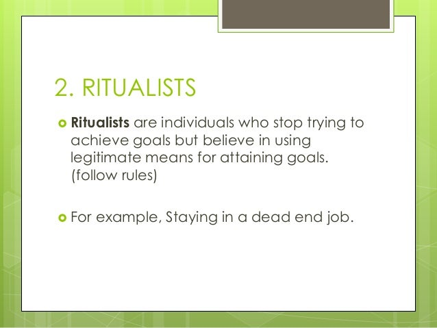 ritualism definition sociology