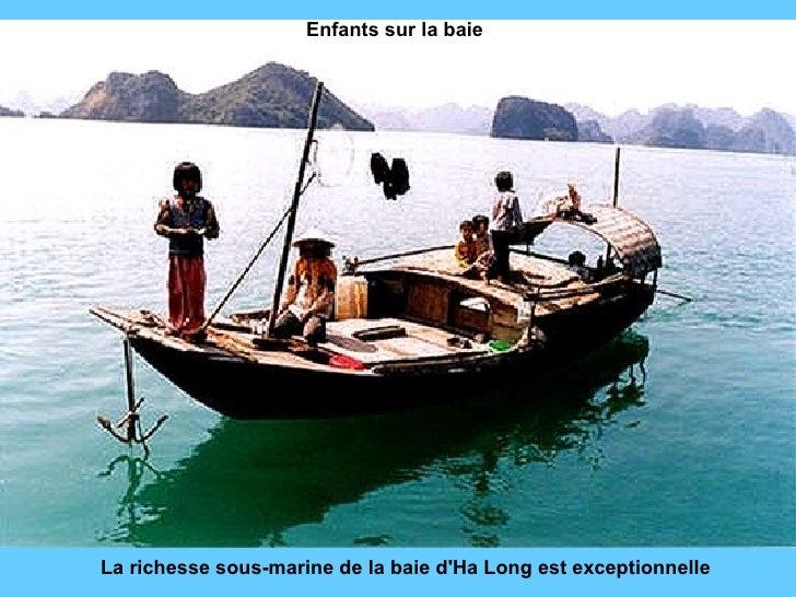 La richesse sous-marine de la baie d'Ha Long est exceptionnelle Enfants sur la baie