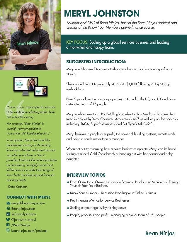 Meryl Johnston 1-page Speaker bio