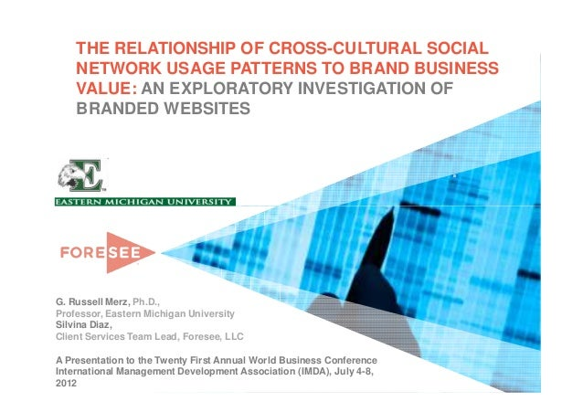 THE RELATIONSHIP OF CROSS-CULTURAL SOCIAL    NETWORK USAGE PATTERNS TO BRAND BUSINESS    VALUE: AN EXPLORATORY INVESTIGATI...