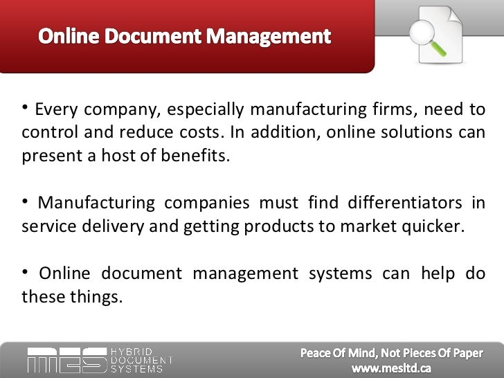 Online Document Management: How Manufacturing Companies ...