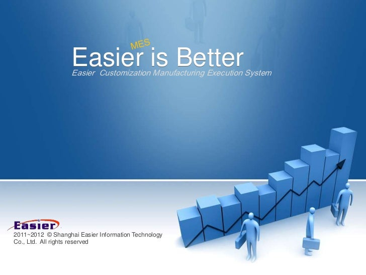 Easier is Better                   Easier Customization Manufacturing Execution System2011~2012 © Shanghai Easier Informat...