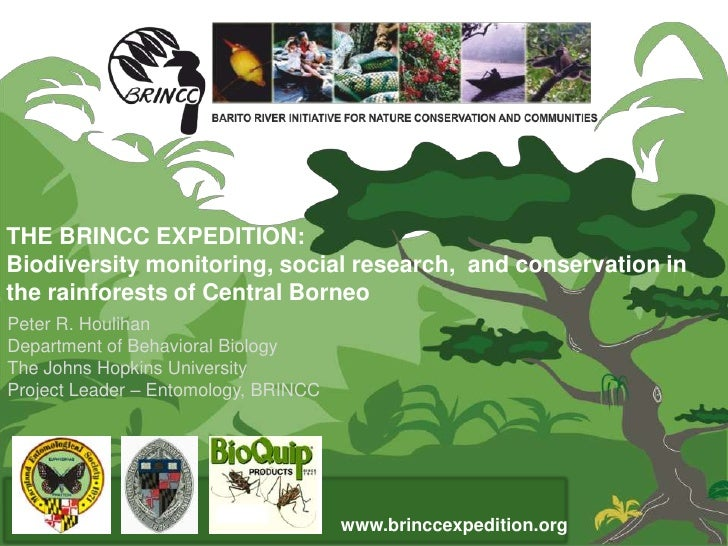 THE BRINCC EXPEDITION:Biodiversity monitoring, social research, and conservation inthe rainforests of Central BorneoPeter ...