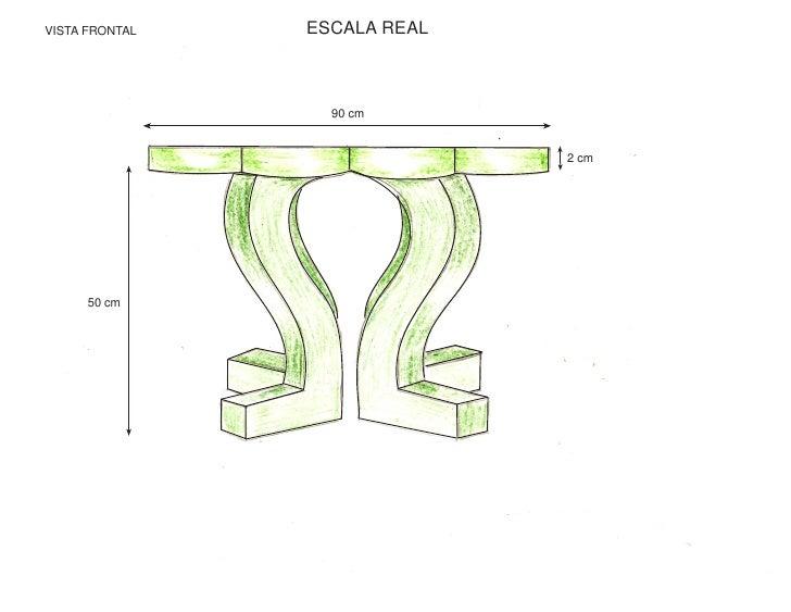 VISTA FRONTAL   ESCALA REAL                      90 cm                                 2 cm           50 cm