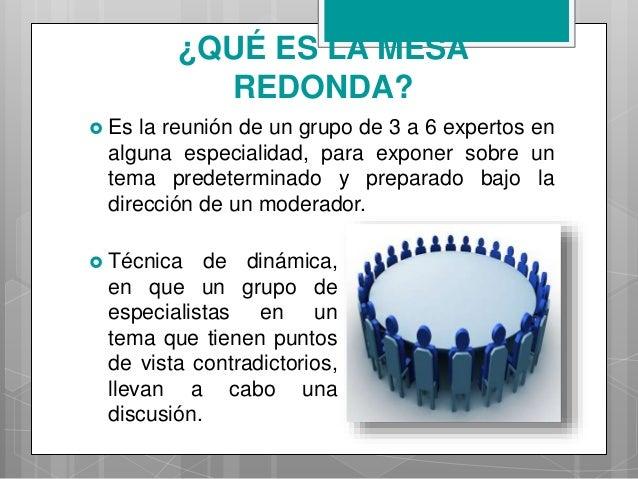 Mesa redonda - Que es mesa redonda ...