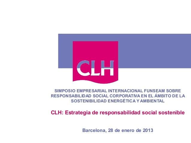 SIMPOSIO EMPRESARIAL INTERNACIONAL FUNSEAM SOBRERESPONSABILIDAD SOCIAL CORPORATIVA EN EL ÁMBITO DE LA       SOSTENIBILIDAD...