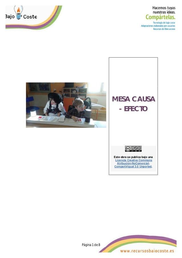 Página 1 de 8 Página 1 de 8 MESA CAUSA - EFECTO Este obra se publica bajo una Licencia Creative Commons Atribución-NoComer...
