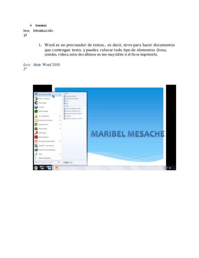 Mesache maribel word Slide 2