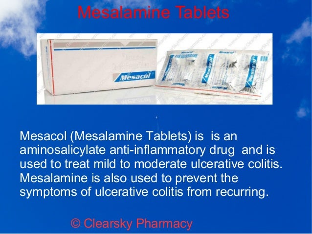Mesacol suppository bwc drug