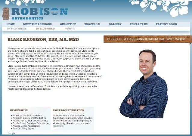 Mesa Gilbert AZ Orthodontist Dr Blake B. Robison Bio