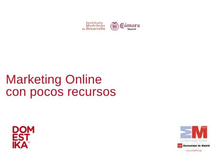 Marketing Online con pocos recursos
