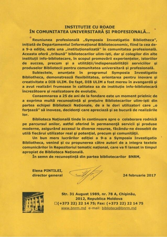 Mesajul de salu a Elenei Pintilei, director general BNRM