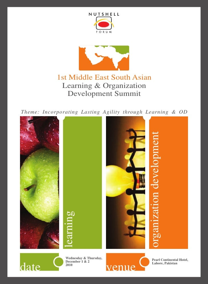 1st Middle East South Asian              Learning & Organization                Development Summit  Theme: Incorporating L...