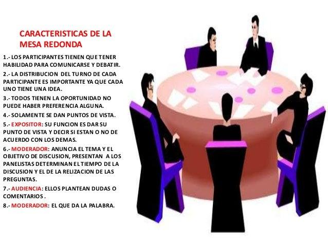 Mesa redonda de debate - Que es mesa redonda ...