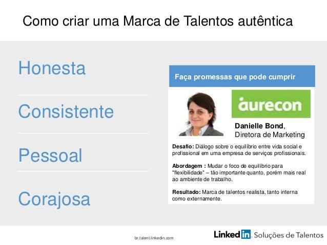 Etapa 4: divulgue e atraia Tudo começa com o perfil #talentbrand  br.talent.linkedin.com